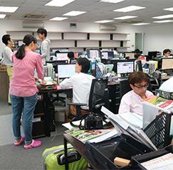 ホーチミン市本社のオフィス